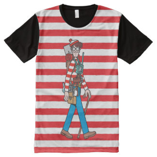 Where's Waldo with all his Equipment All-Over Print T-Shirt