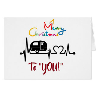 WHEREVER WE ROAM **CHRISTMAS WISHES** CAMPER STYLE CARD