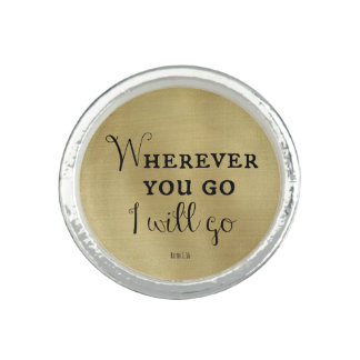 Wherever you go, I will go Bible Verse Photo Rings