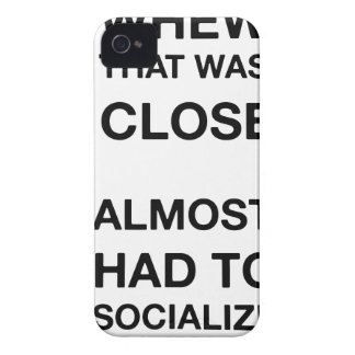 whew that was close almost had to socialize Case-Mate iPhone 4 case