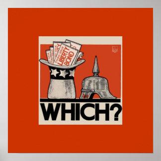 Which? Liberty Bond WW1 Vintage WW1 Poster