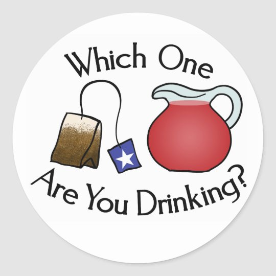 Which One Are You Drinking? Classic Round Sticker