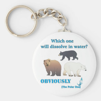 Which one will dissolve in water Polar Chemistry Basic Round Button Key Ring
