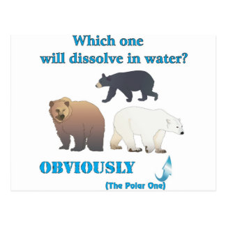 Which one will dissolve in water Polar Chemistry Postcard