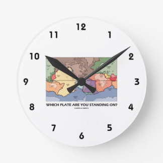 Which Plate Are You Standing On? (Plate Tectonics) Round Clock