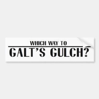 Which Way to Galt's Gulch? Bumper Sticker
