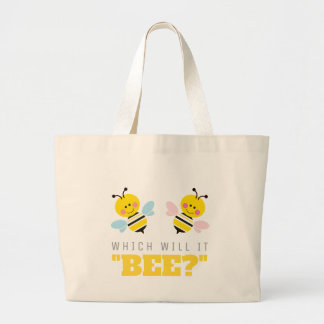 Which Will It Bee Gender Reveal Baby Shower Large Tote Bag