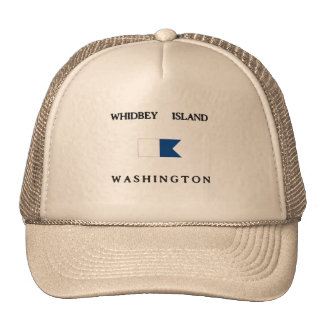 Whidbey Island Washington Alpha Dive Flag Cap
