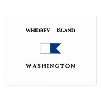 Whidbey Island Washington Alpha Dive Flag Post Card