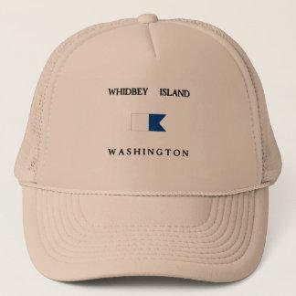 Whidbey Island Washington Alpha Dive Flag Trucker Hat