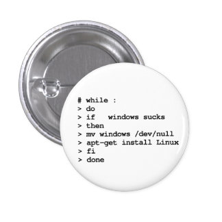 while : do 3 cm round badge