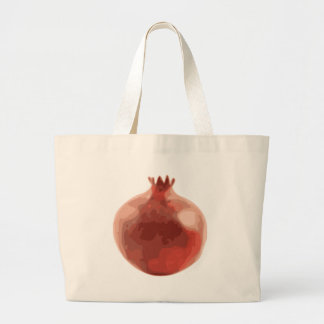 While Pomegranate Fruit Large Tote Bag