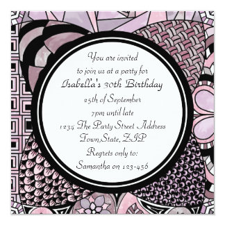 Whimsical Abstract Doodle Party Invitations