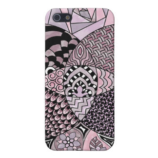 Whimsical Abstract Doodle Pattern Pink and  Purple iPhone 5 Cover