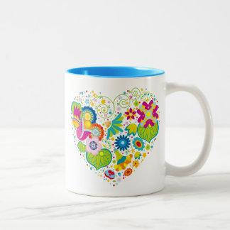 Whimsical Abstract Heart Mug