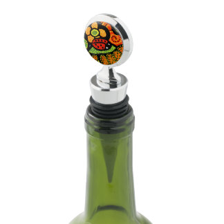 Whimsical Abstract Red Ladybug Bright Colors Wine Stopper