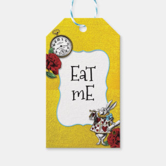 Whimsical Alice in Wonderland Gold EAT ME Gift Tags