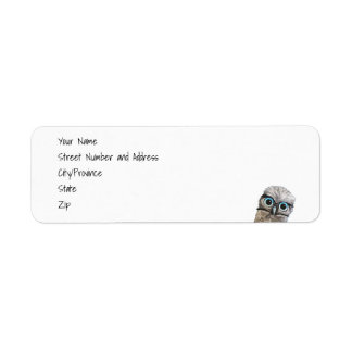 Whimsical and Adorable Burrowing Owl Art Return Address Label