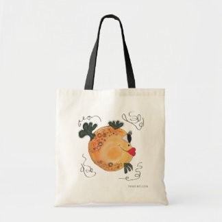 Whimsical and Adorable Fish Art Orange and Yellow Tote Bag
