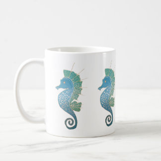 Whimsical and Adorable Seahorse Artwork Coffee Mug