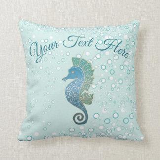 Whimsical and Adorable Seahorse Artwork Cushion