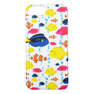 Whimsical and Colourful Tropical Fish and Bubbles iPhone 8/7 Case