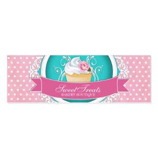 Whimsical and Elegant Cupcake Bakery Tags Pack Of Skinny Business Cards