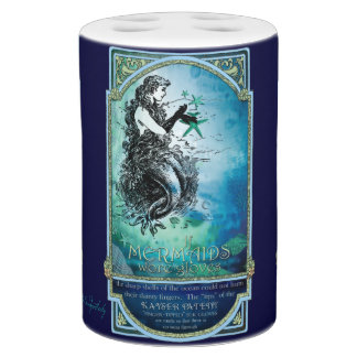 Whimsical Antiquarian Mermaid in the Sea Bathroom Set