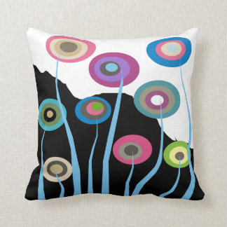 Whimsical Artsy Flowers Decorative Pillow 2