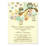 Whimsical Autumn Owls Baby Shower Invitation