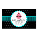Whimsical Bakery Cupcake Business Cards