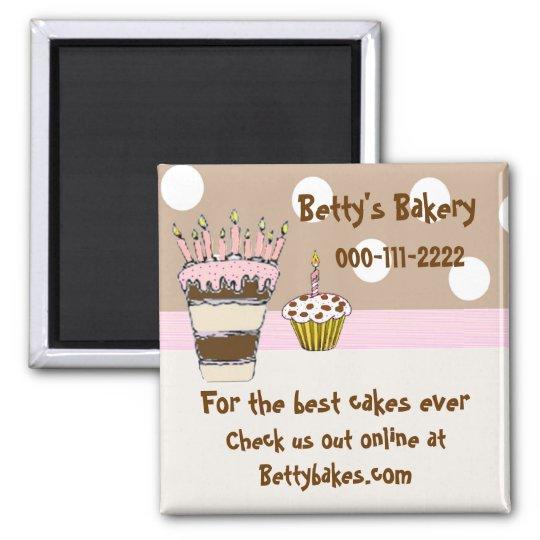 Whimsical Bakery Magnet