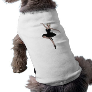 whimsical BALLERINA Sleeveless Dog Shirt
