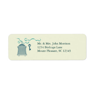 Whimsical Birdcage Wedding Avery Label
