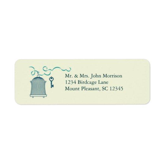 Whimsical Birdcage Wedding Avery Label Return Address Label