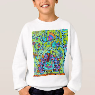 WHIMSICAL BIRDS_PEACOCK SWEATSHIRT