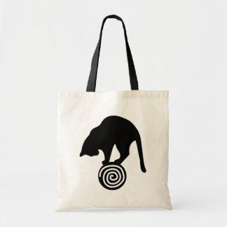 Whimsical Black Cat Tote Bag