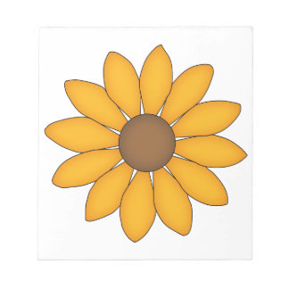 Whimsical Black-Eyed Susan Note Pads