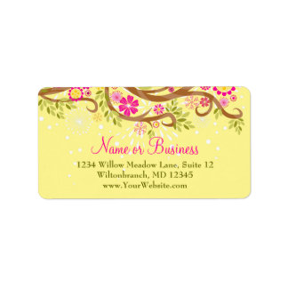 Whimsical Branch Address Label