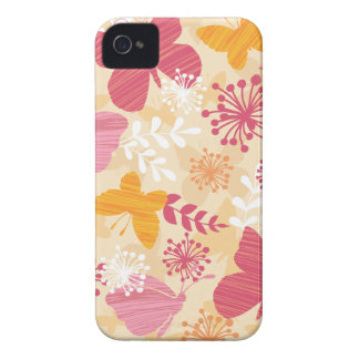 Whimsical Butterflies Pink & Orange Girly iPhone 4 Cover