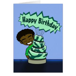 Whimsical Cake Birthday Card