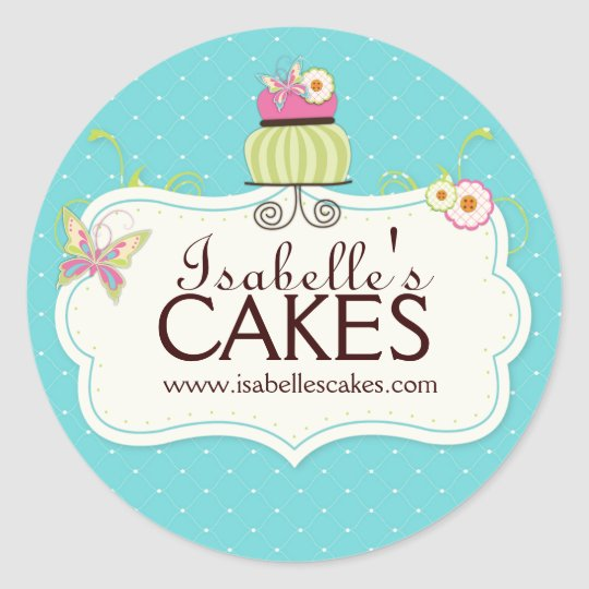 Cake Box Sticker Designs