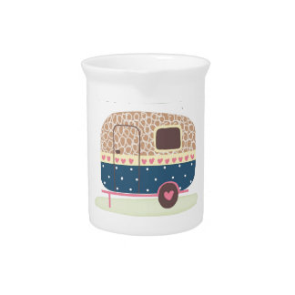 Whimsical Camp Trailer Pitcher