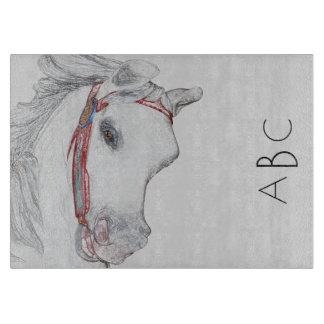 Whimsical Carousel Horse | Custom Monogram Initial Cutting Board