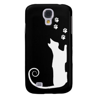 Whimsical Cat  Galaxy S4 Cases
