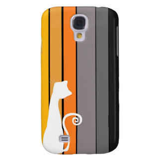Whimsical Cat  Galaxy S4 Cover