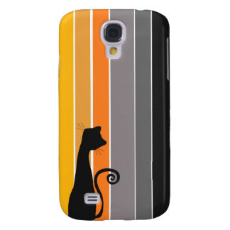 Whimsical Cat  Galaxy S4 Covers