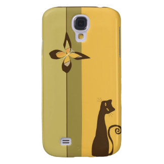 Whimsical Cat  Samsung Galaxy S4 Covers