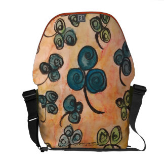 Whimsical Celtic Shamrock Messenger Bag