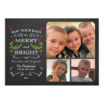 Whimsical Chalkboard Holiday Photo Card (Groupon) Invitation